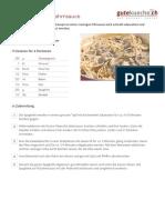 Spaghetti an Pilzrahmsauce - Rezept