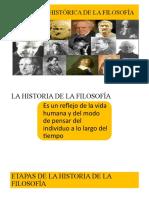 TEMA 4 EVOLUCIÓN HISTÓRICA DE LA FILOSOFÍA 2018