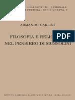 Filosofia e Religione Nel Pensiero Di Mussolini by Armando Carlini (Z-lib.org)