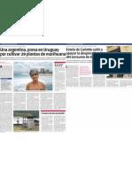 Alicia Castilla presa en Uruguay. Primera nota.