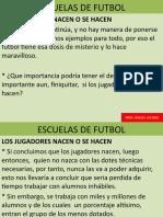 Escuelas de Futbol. INICIO