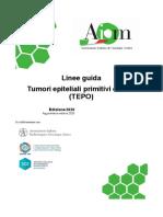 linee guida tumori epiteliali primitivi