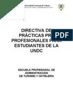 Directiva Reglamento de Prácticas Pre Profesionales.
