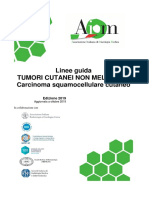 Linee guida tumori cutanei non melanoma carcinoma squamocellulare cutaneo
