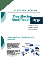 Operaciones unitarias Destilacin
