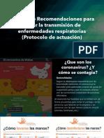 Manual de Recomendaciones para evitar la transmisión de enfermedades respiratorias (Protocolo de actuación)
