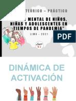 SALUD MENTAL DE NIÑOS, NIÑAS Y ADOLESCENTES