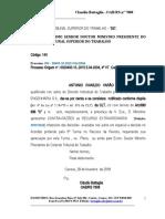 Contra-razões ANTONIO IVANILDO V.  GUIMARAES  X  UTC ENGENHARIA SA (TST REC EXTRAORD) COPIA BKP