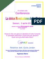 Conferenza La Dolce Ri-Voluzione Della Gioia Sassari