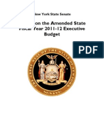 NY Senate Report on the Amended Executive Budget FINALt