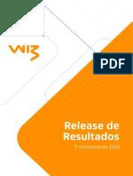 Press Release Do Resultado Da Wiz Do 1t21