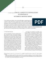 Perfilando el Constitucionalismo Económico (Derecho y Economía, 2007)