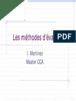 Methode d'Evaluation