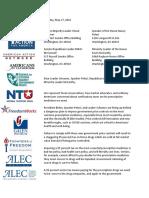 Letter on Drug Tax