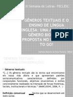 Gêneros Textuais e o Ensino de Língua Inglesa