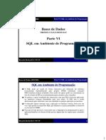 Parte VI SQL em Ambiente de Programação