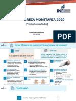 Pobreza Monetaria 2020, INEI