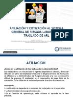 2. AFILIACIÒN Y TRASLADO SGRL