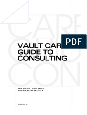 The Vault Guide to Consulting | Consultant | Mc Kinsey & Company