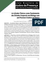 Os estados tônicos como fundamento dos estados corporais_ Carolina Laranjeira