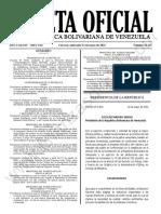 Gaceta Oficial 42.125 Sumario