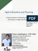 Agile Estimation and Planning- Peter Saddington