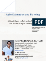 Agile Estimation and Planning- Peter Saddington