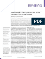 Inhibitory B7 family molecules in tumour microenvironment