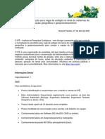 Edital 04 28 Vaga de Estágio Na Área de Sistemas de Informação Geográfica e Geoprocessamento