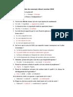 Correction Du Concours Direct Session 2020