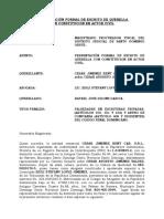 Presentación Formal de Querella Caso Jimenez Rent Car