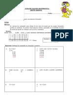 ADICION Y SUSTRACCION DE DECIMALES 6° BASICO