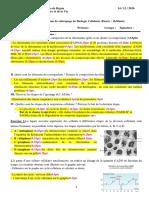 Corrigé de rattrapage Bio Cell 2020