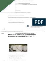 Redução Da Emissão de Gases e Vapores Emanados de Tanque de Teto Fixo – Romão Tecnologias