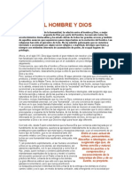EL HOMBRE Y DIOS