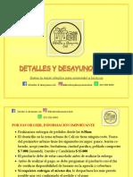 Catálogo Detalles y desayunos Cali  LOCOS  DE INSTRUMENTACION