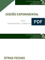 Diseño Experimental Clase 15 Presentaciones y Trabajo Practico 3