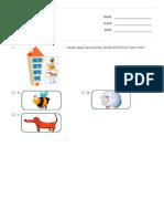 Evaluación 1° básico Matemática Números Ordinales