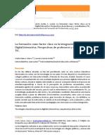 La     formación     como     factor     claveen     la     integración     de     la     Pizarra    Digital    Interactiva.