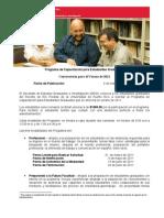 Convocatoria Verano 2011 - Programa de Capacitacion Estudiantes Graduados