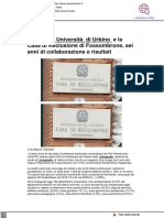 L'Università di Urbino e il Polo di Reclusone di Fossombrone