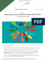 Appel à projets dans le cadre de l'initiative Objectif 2030 - IFDD