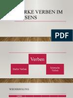 Starke Verben Im Prasens Arbeitsblatter Grammatikerklarungen Grammatikubung 95249