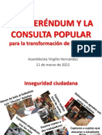 El Referendum y La Consulta Popular (11-Mar-11)