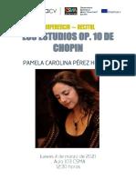 conferencia estudios op 10 Frédéric Chopin