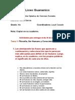 Actividad de filisofia social y pensamiento dominicano 4to A, B, C