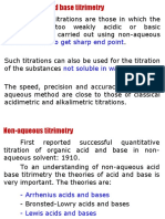Non-Aqueous Acid Base Titration
