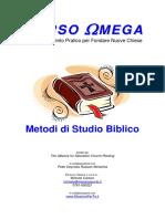 Corso Omega - Metodi Di Studio Biblico