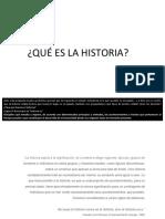 #01 - Teórica - Qué es la Historia