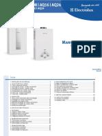 Manual de Seriços Aquecedor de água Electrolux